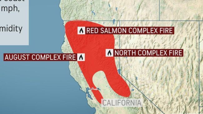 Gusty winds may wreak havoc in Northern California wildfire battle