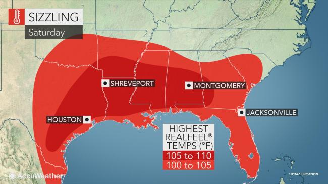 Southern US to feel like middle of summer as record heat builds into this weekend
