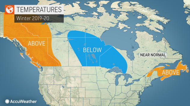 Accuweather Winter Forecast 2020.Accuweather S 2019 2020 Canada Winter Forecast
