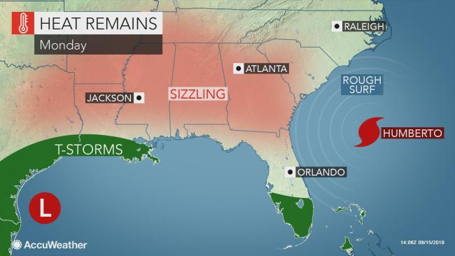 Summerlike heat, humidity to persist across the South this week