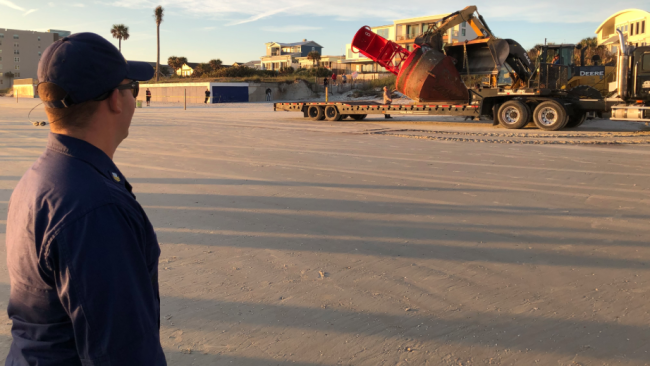 7-ton titan washes ashore hundreds of miles from home