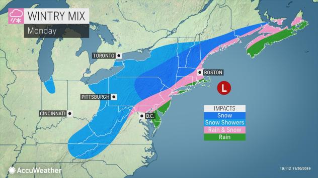 Town braces for first winter storm
