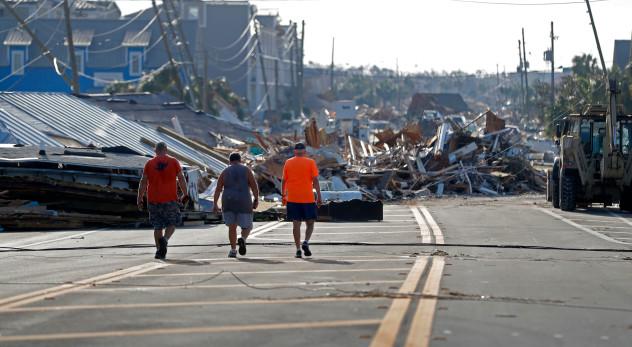 Hurricane Michael destruction Mexico Beach 10-11-2018