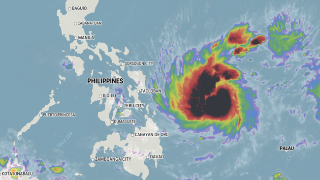 Phanfone approaches landfall in the Philippines with wind, rain into midweek
