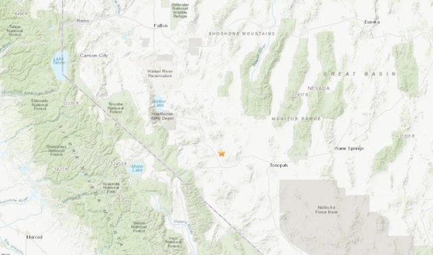 6.4 magnitude earthquake strikes southwest Nevada, shaking felt hundreds of miles away