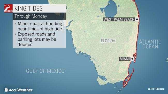 King Tide to cause flooding in portions of coastal South Florida