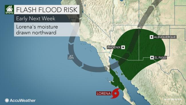 Tropical merger to bring downpours amid drought in southwestern US next week