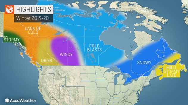 AccuWeather\'s 2019-2020 Canada winter forecast