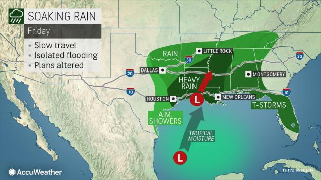 Olga bringing heavy rains to central Gulf Coast