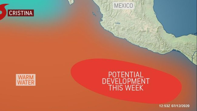 New tropical system brewing in the East Pacific