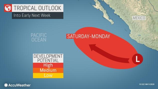 Tropical development likely in East Pacific as system churns towards favorable conditions