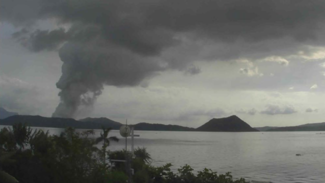 Ashfall reaches Manila as Taal Volcano erupts, prompts evacuations in the Philippines