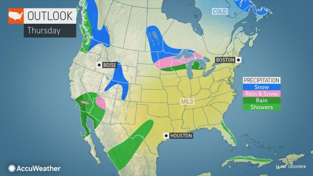 Storm Tracker Forecast: Christmas Day will be wet and cold