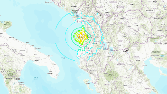 68 people injured as a pair of strong earthquakes rattle Albania