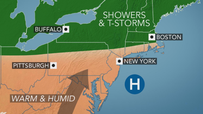 Late-summer heat, humidity to return to the Northeast by midweek