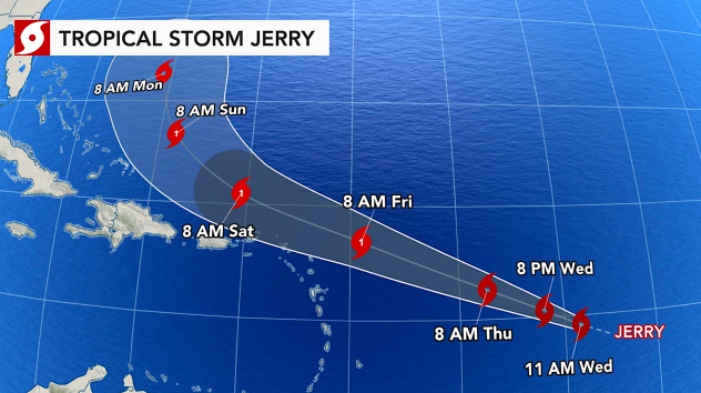 Hurricane Jerry a potential threat