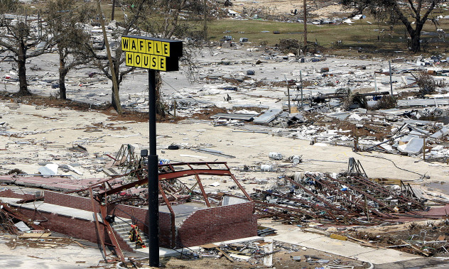 Waffle House after Hurricane Katrina