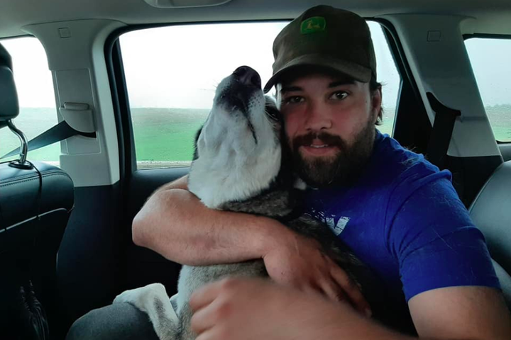 Watch this mans emotional reunion with his dog who was lost for 3 years