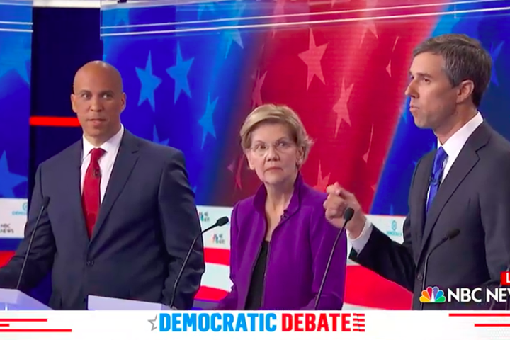 Cory Bookers peeved reaction to Beto speaking Spanish at the debate is an instant meme