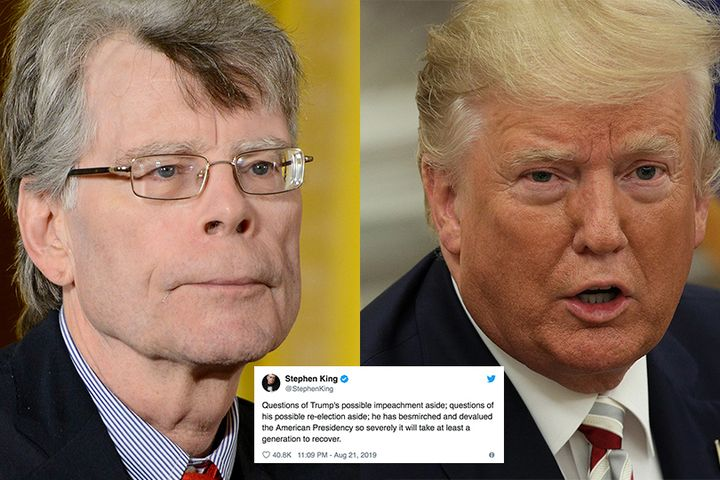 Stephen King has a very bleak prediction for how Trumps presidency will affect the U.S