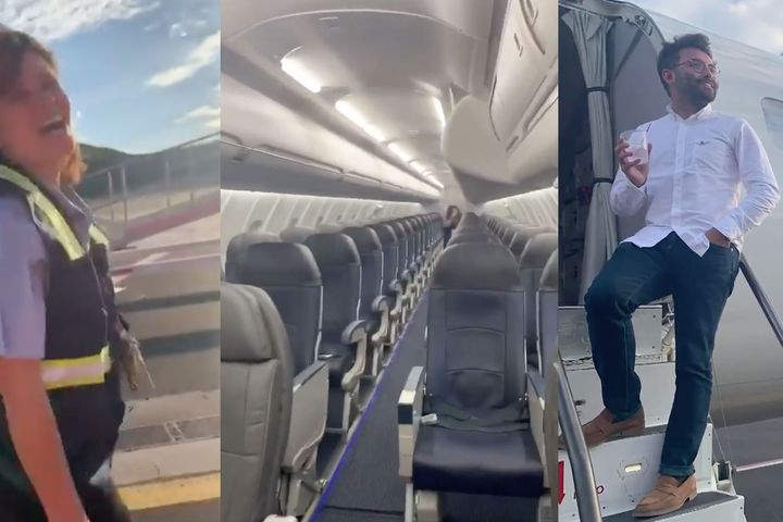 Only passenger on a Delta flight has the time of his life with the crew