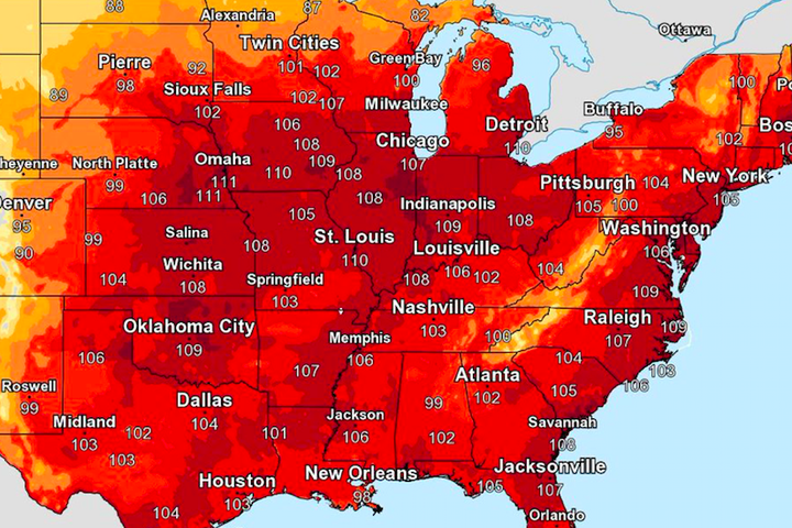 America will roast for 4 days