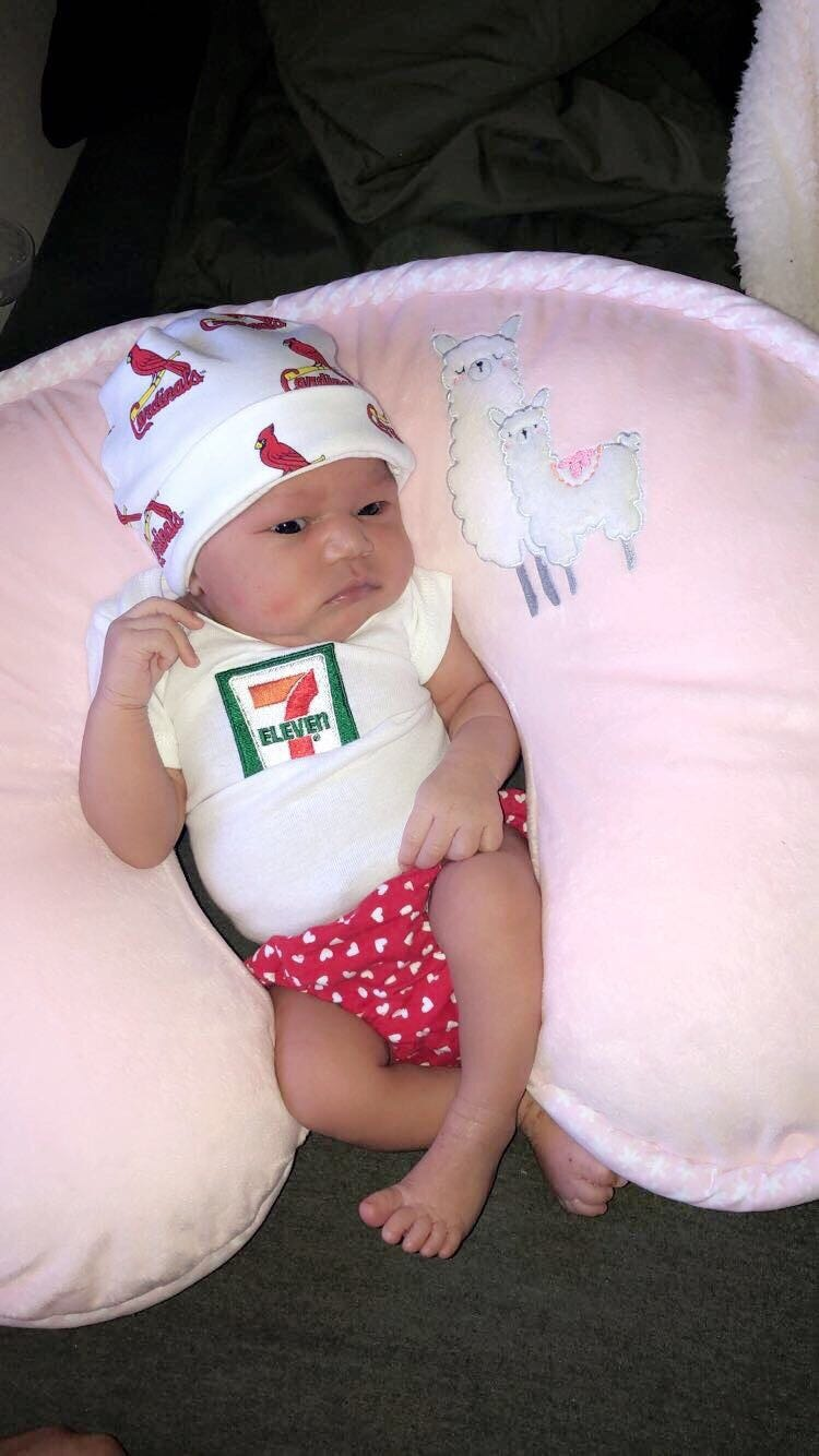 Baby born on 7-Eleven Day at 7:11 p.m., weighs 7 lbs., 11 oz., gets 7-Eleven college fund 4a575dea6fb25f092b771abe991b5769