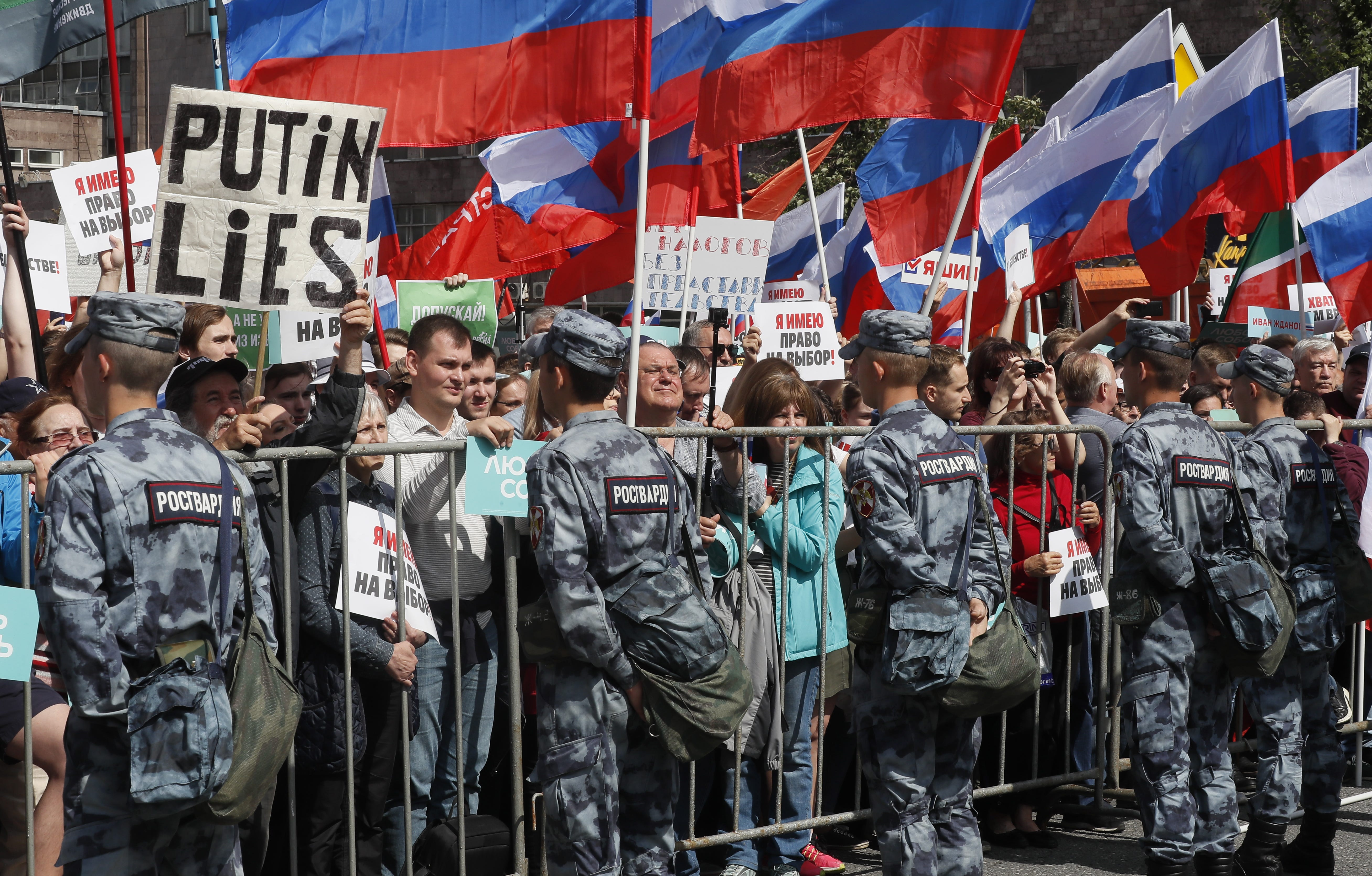 Thousands protest in Moscow after opposition figures barred from city council ballot
