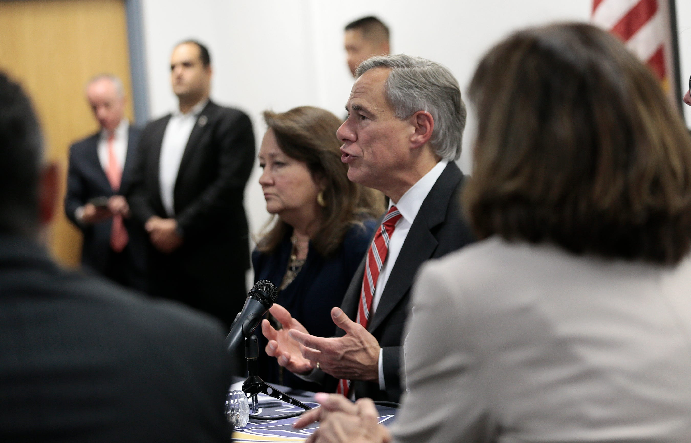 Texas governor says mistakes were made in a fundraising mailer that contained anti-illegal immigration rhetoric