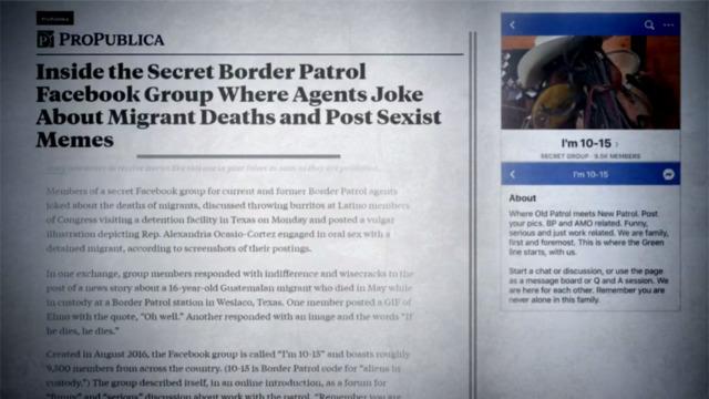 Border Patrol agents allegedly mocked migrant deaths in secret Facebook  group