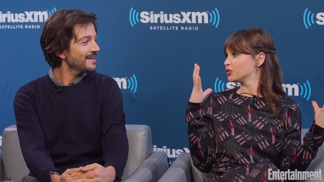 Ultimate Christmas Present.Rogue One Stars Felicity Jones And Diego Luna Have The Ultimate Christmas Present For Their Families