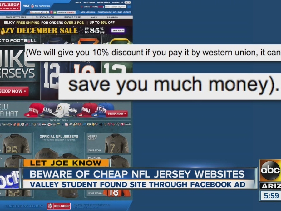 on sale 91af3 9d0d1 Beware of cheap NFL jersey websites