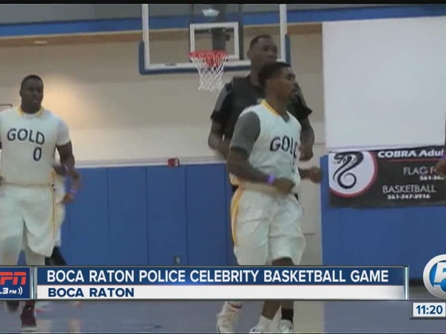 Boca Raton Police Athletic League Holds Celebrity Pick-Up