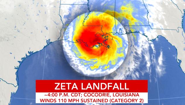 Hurricane Zeta Landfall