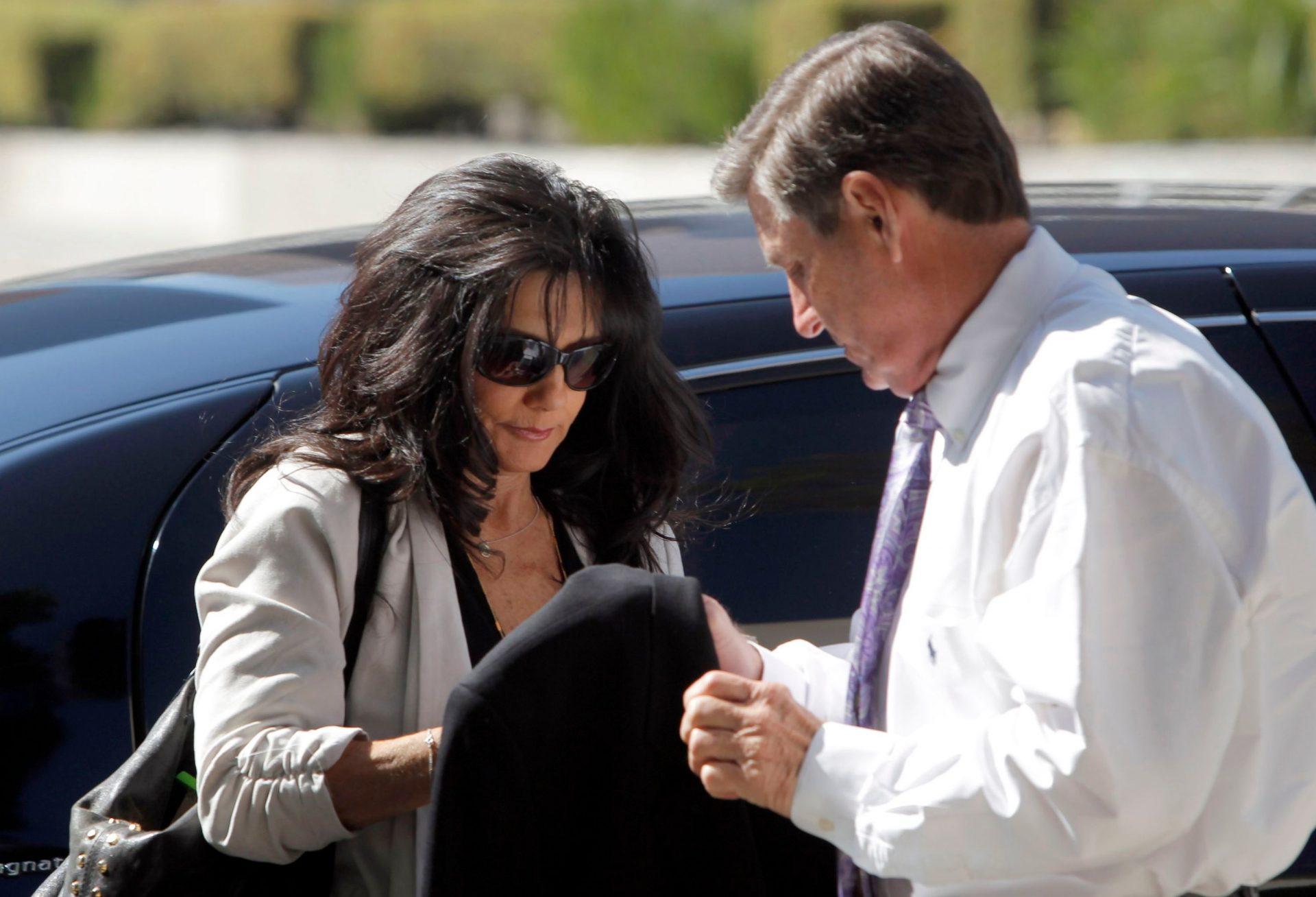 Mandatory Credit: Photo by Nick Ut/AP/Shutterstock (6223672b)Lynne Spears, Jamie Spears Britney Spears' parents, Lynne Spears, left, and Jamie Spears arrive at court in Los Angeles.