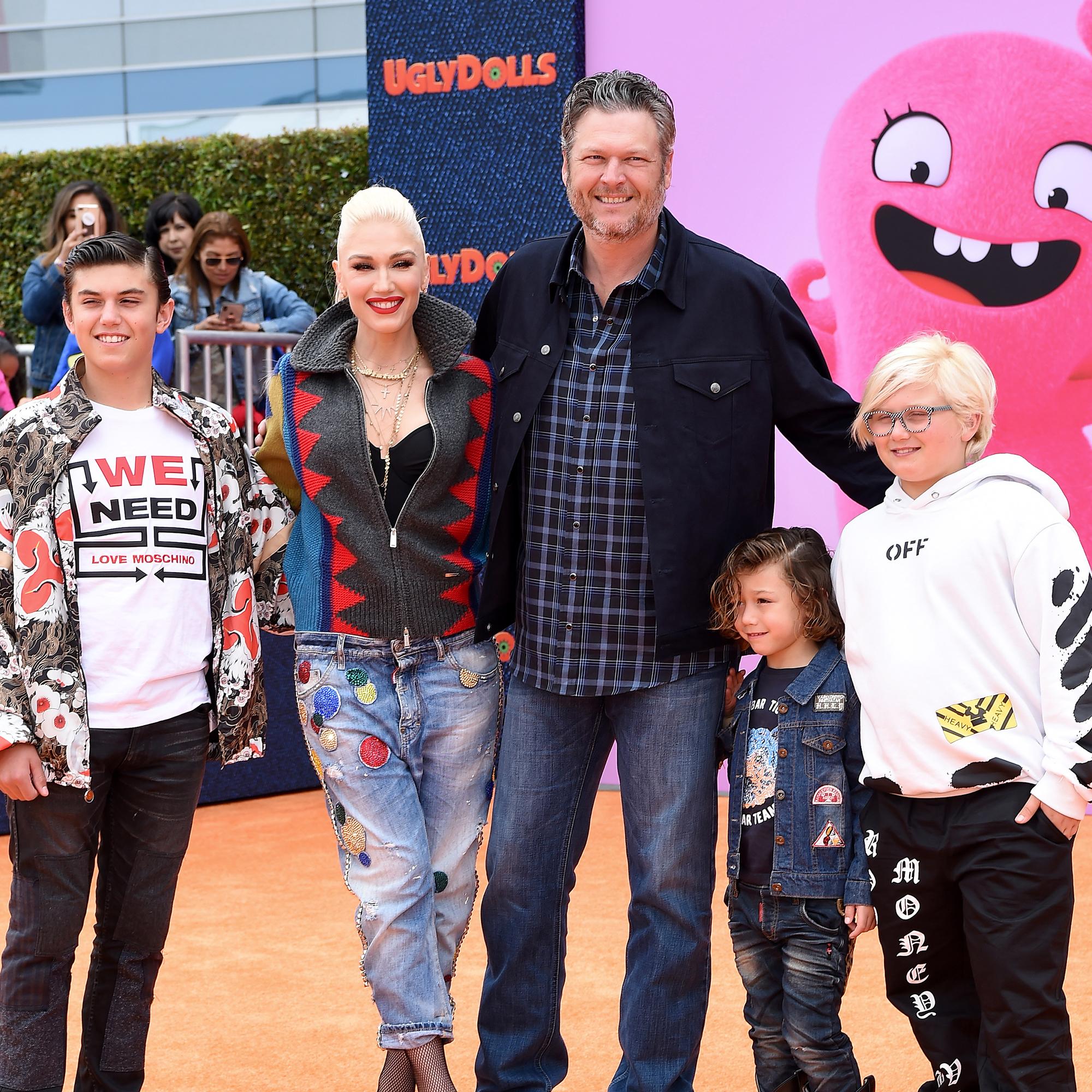 Kingston Rossdale, Gwen Stefani, Blake Shelton, Apollo Bowie Flynn Rossdale, and Zuma Nesta Rock Rossdale (Axelle/Bauer-Griffin / FilmMagic)