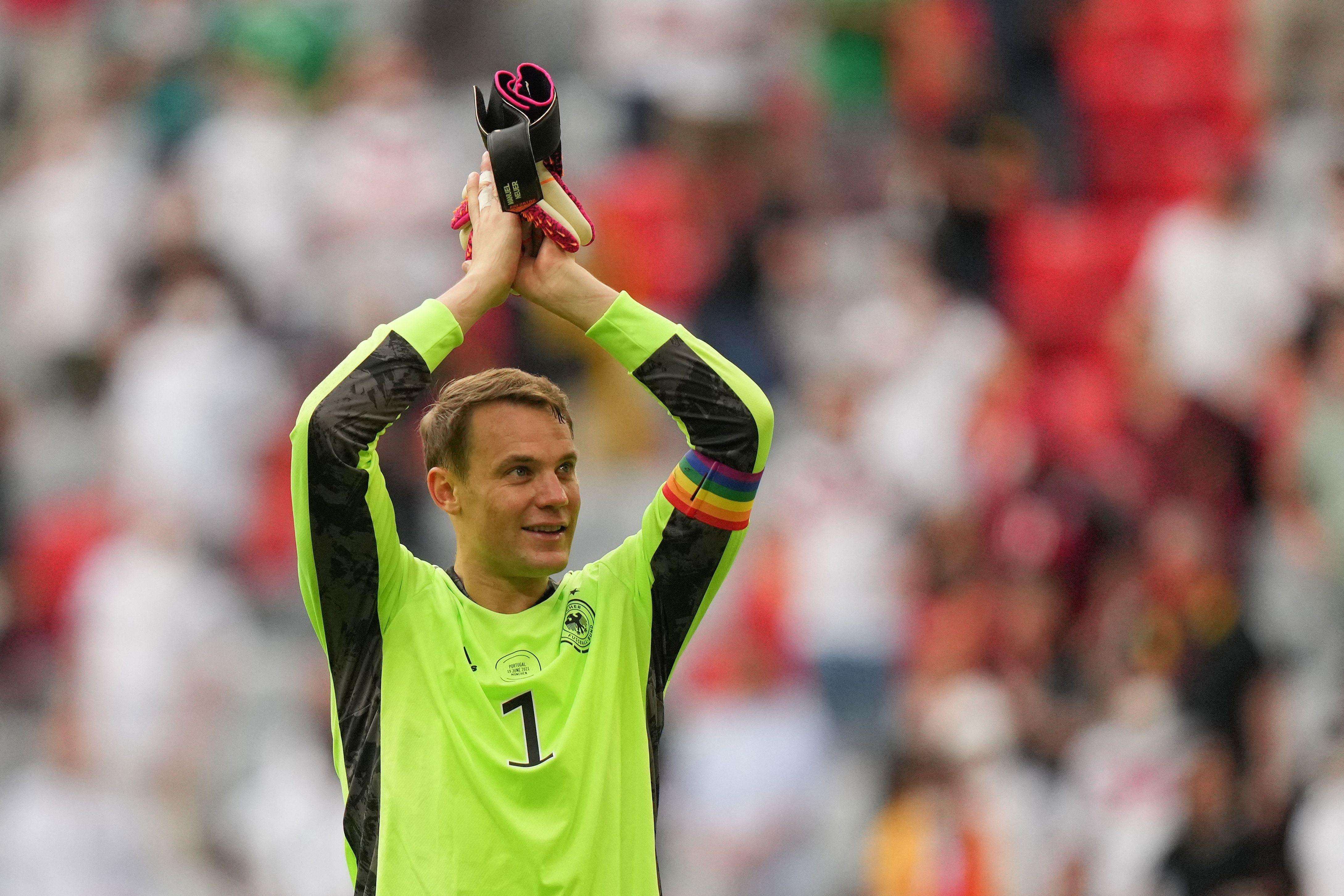 UEFA stops investigation into German keeper Manuel Neuer's rainbow armband, calling it 'good cause'