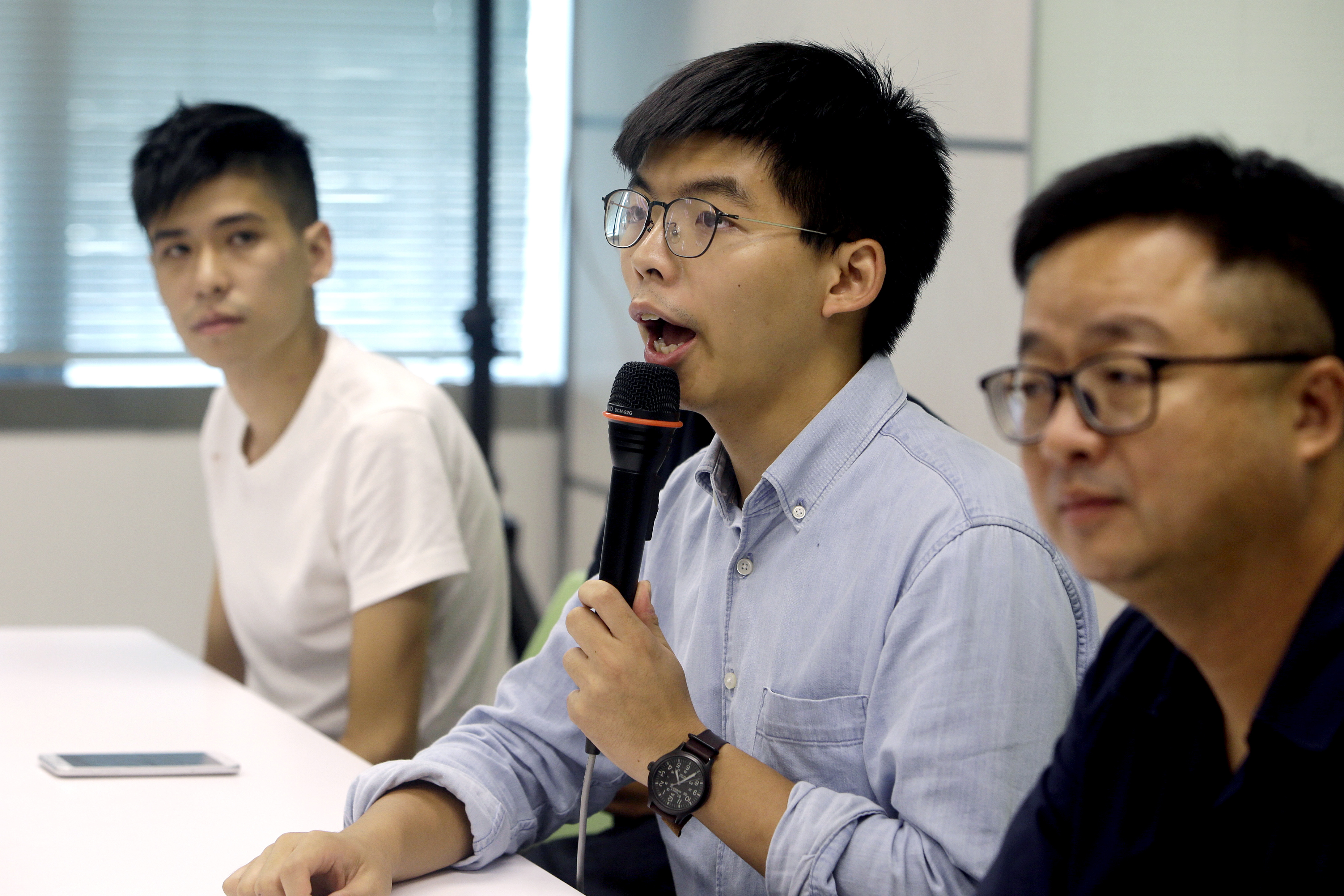 Joshua Wong urges Taiwanese to show support for Hong Kong