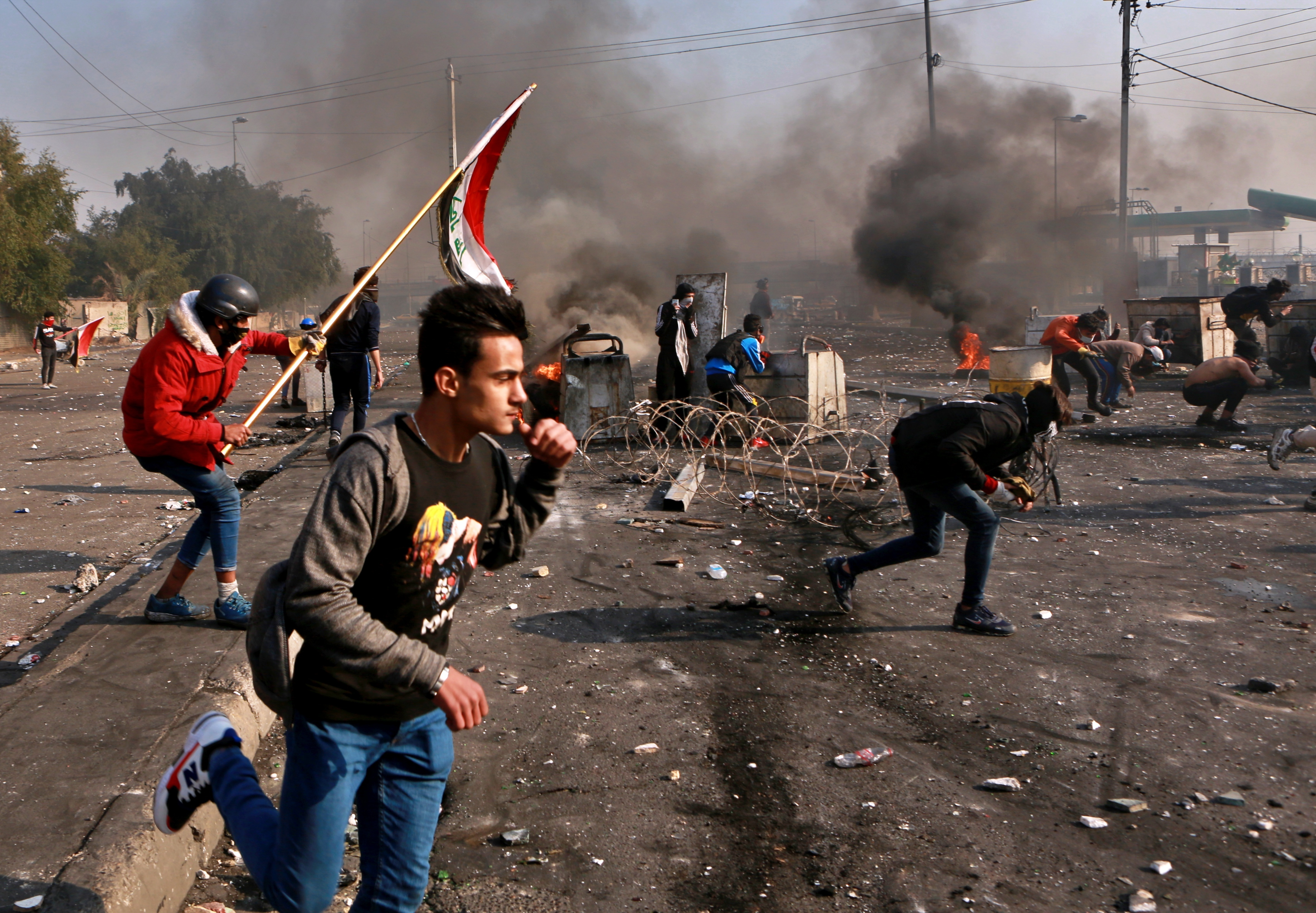 Iraqi officials: 3 dead, dozens wounded in Baghdad protests