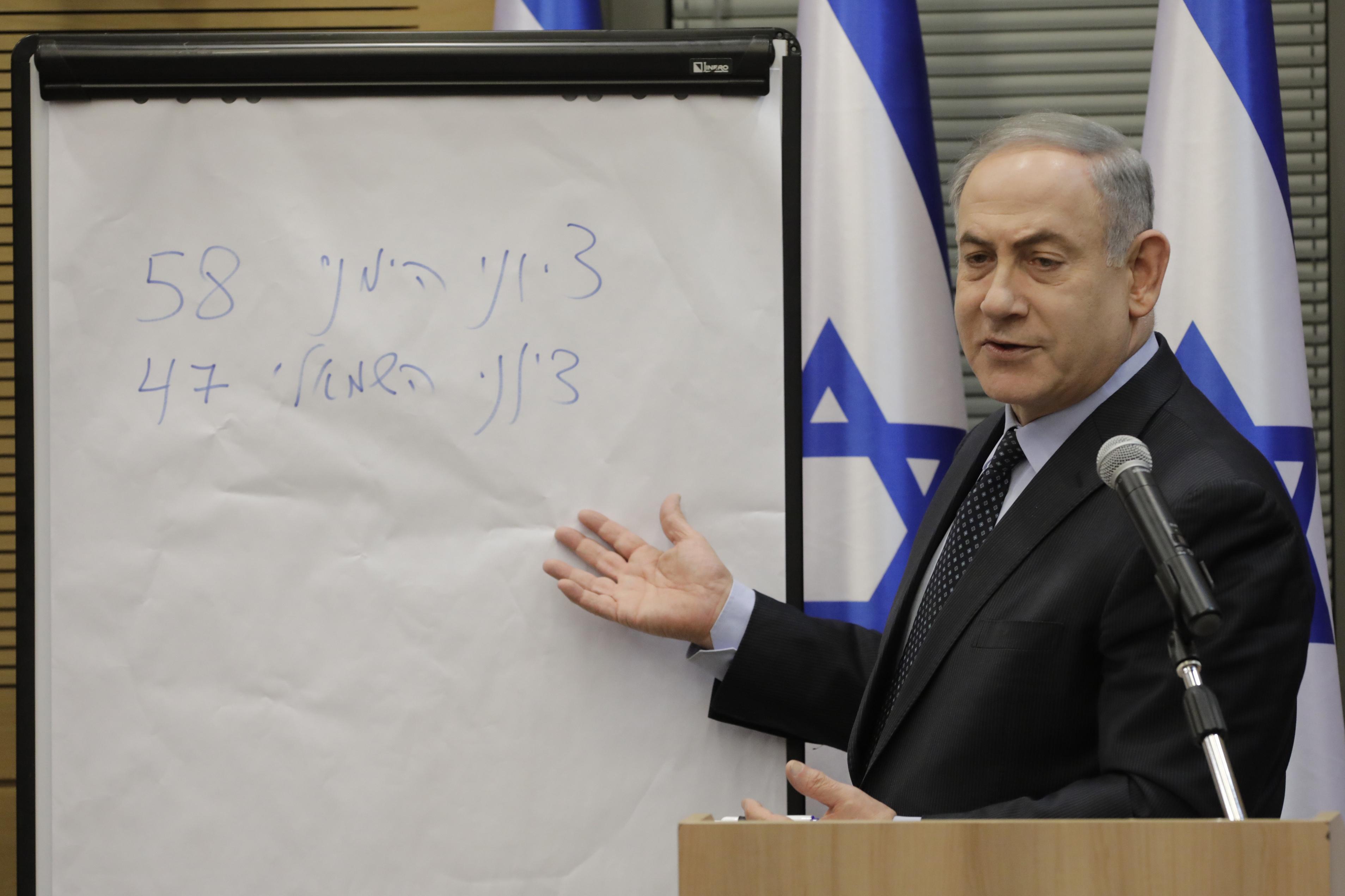 Israels Netanyahu falls short of parliamentary majority