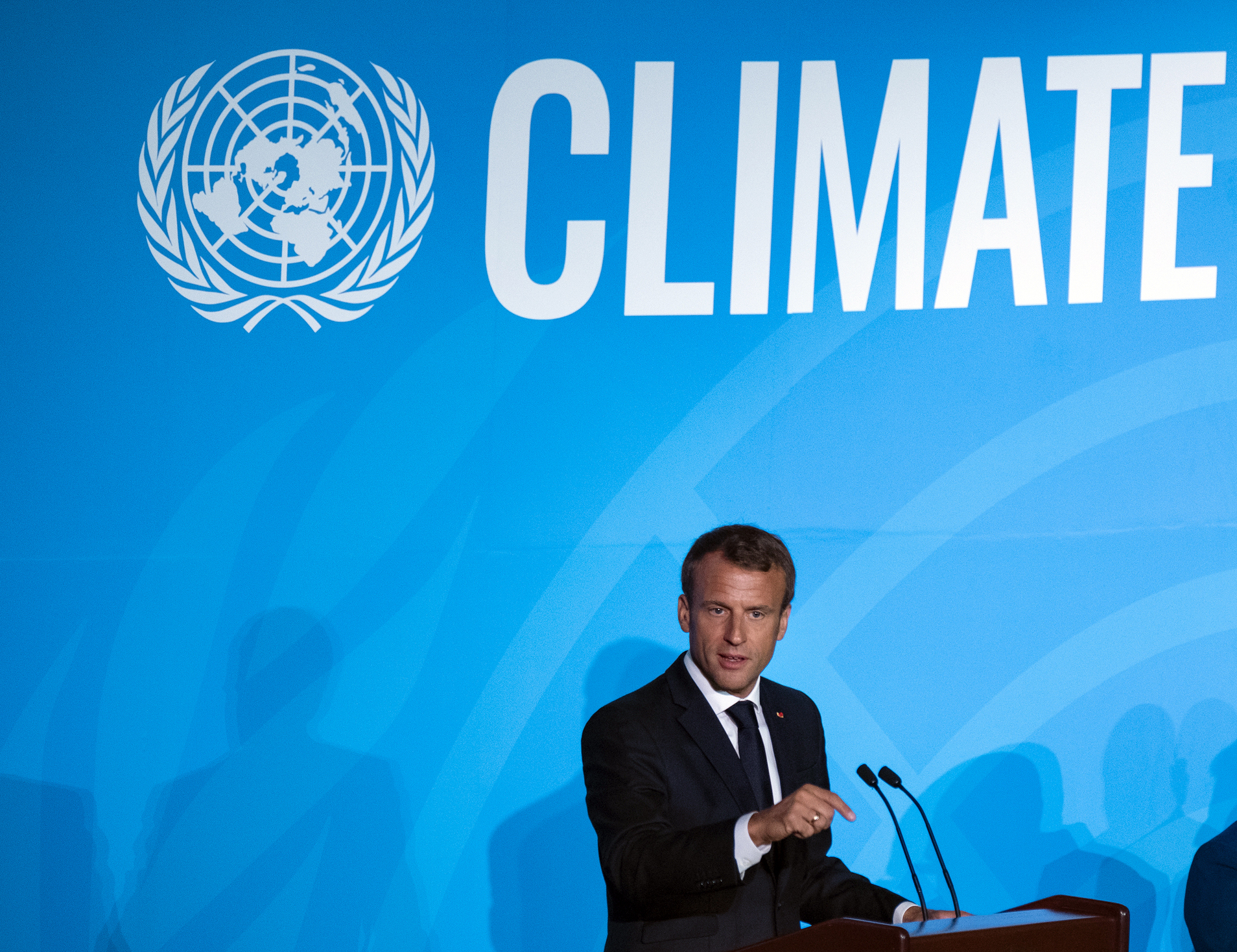 Macron urges French climate protesters to target Poland
