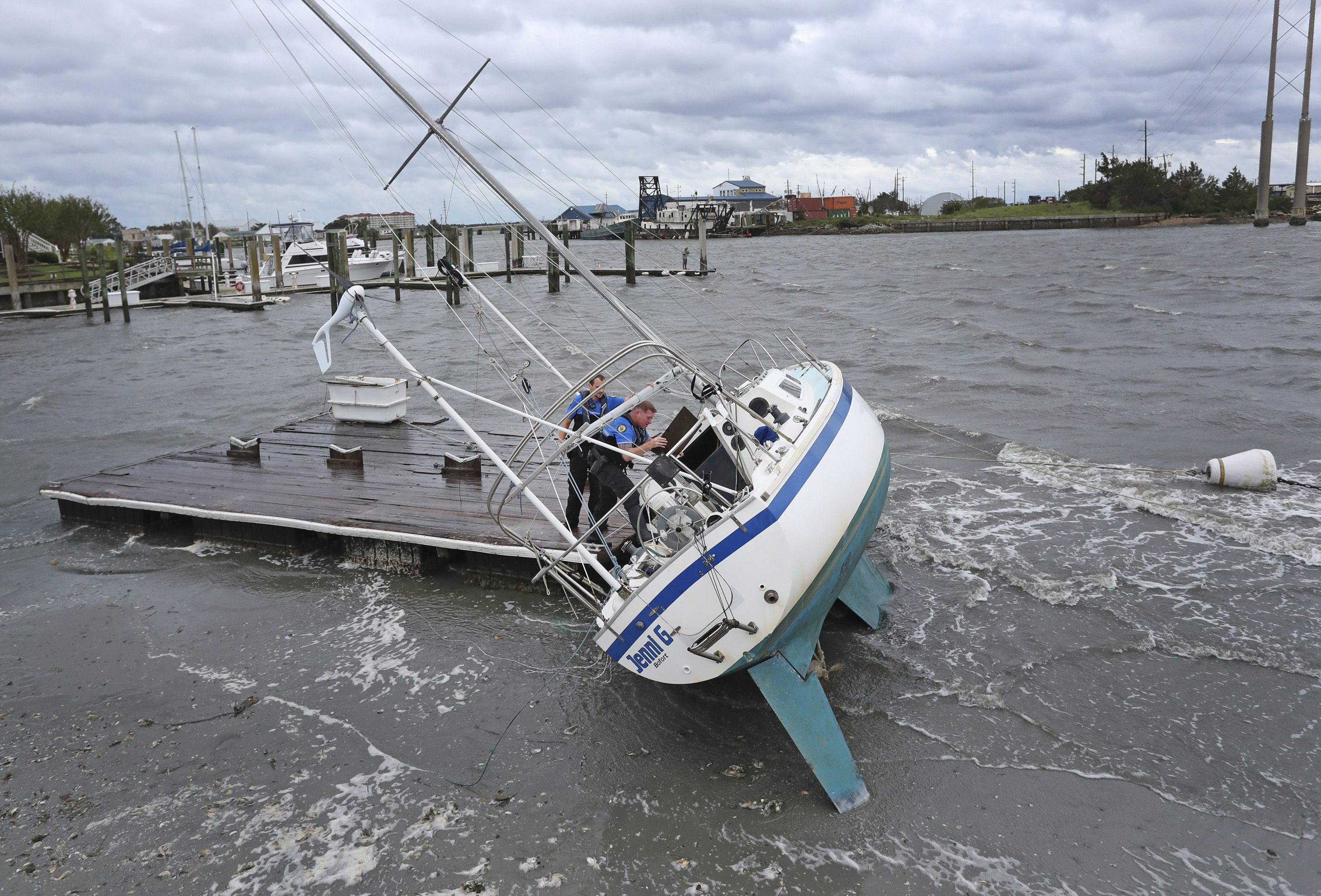 The Latest: Rare hurricane likely to be felt in Canada
