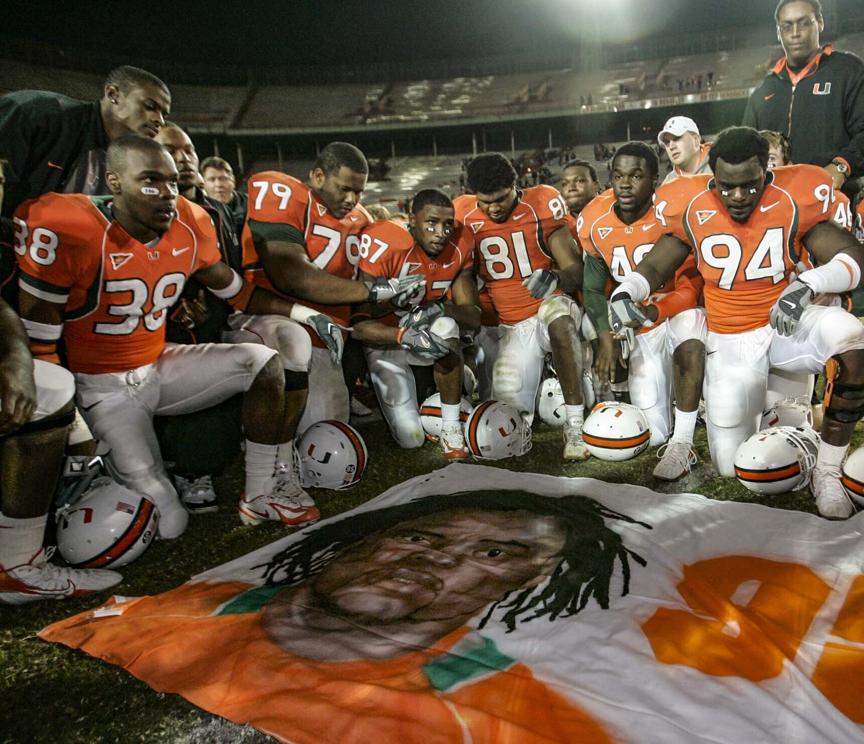 Ex-teammate pleads not guilty to killing Miami football star