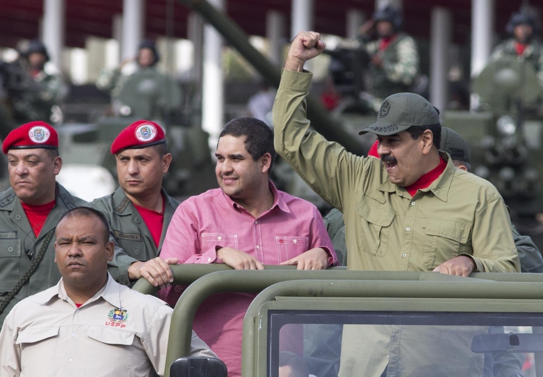US sanctions Maduros son as it raises pressure on Venezuela
