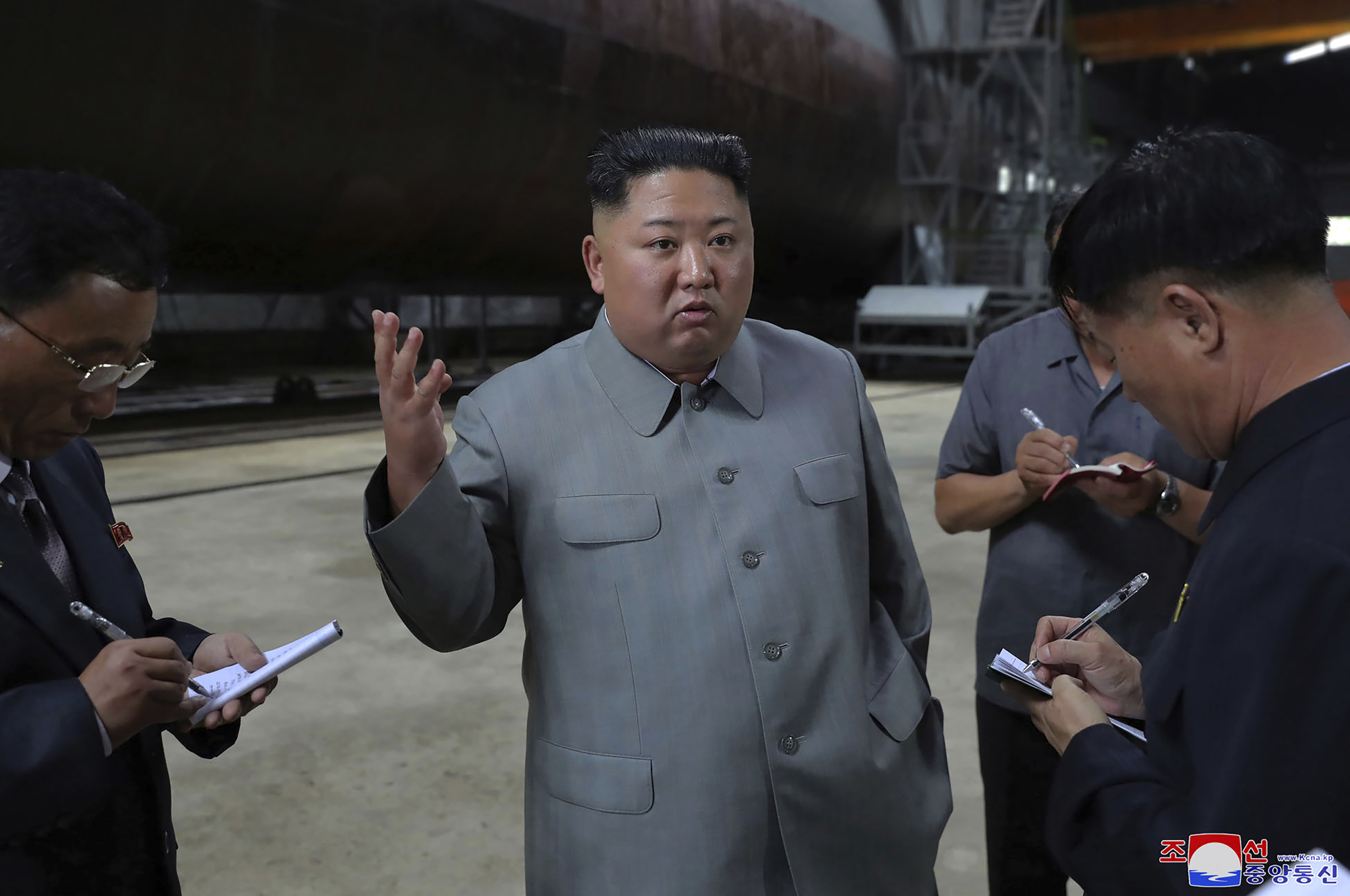 Kim inspects new sub, wants North Koreas military bolstered
