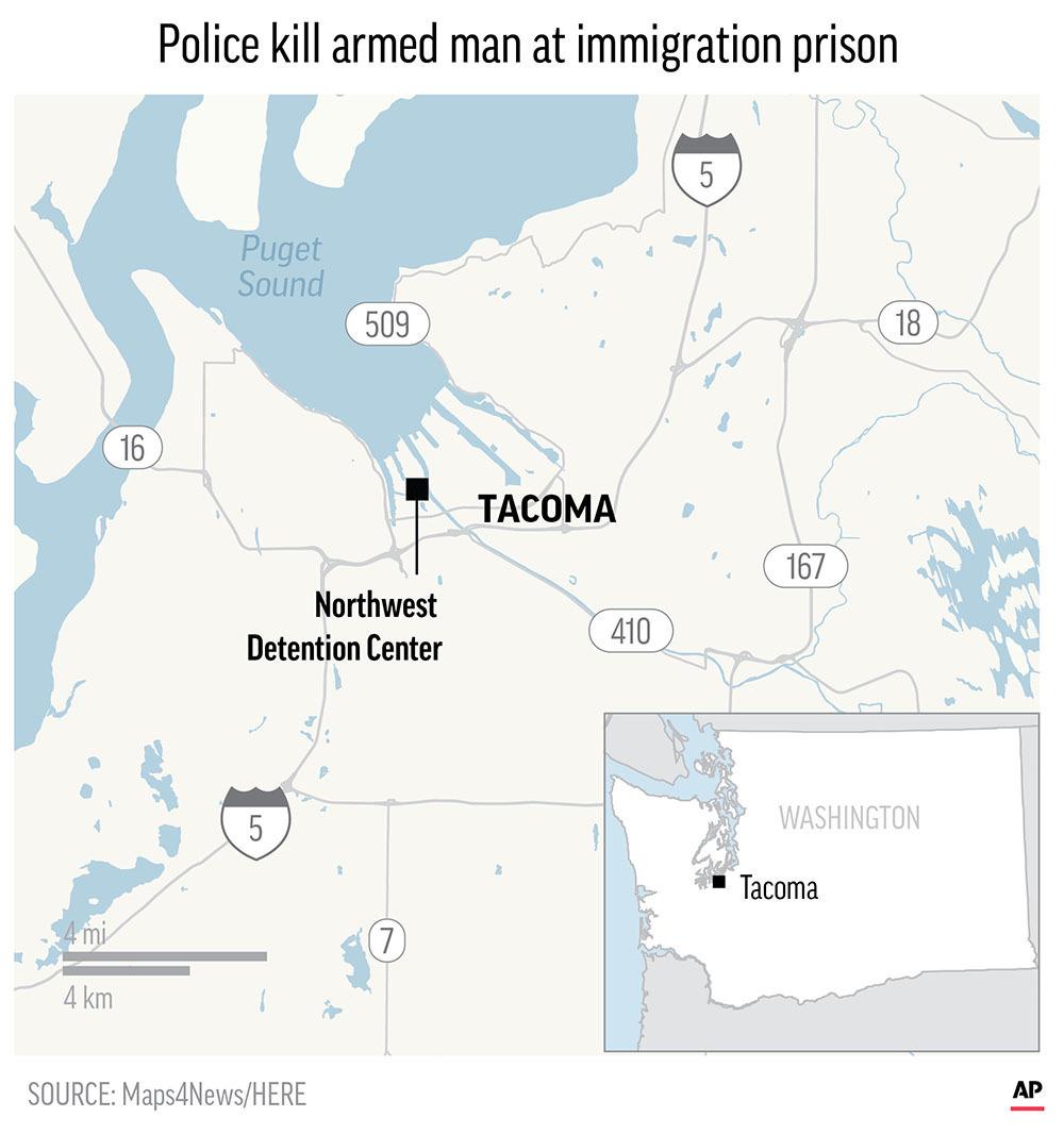 Man killed at Washington immigration jail shot many times