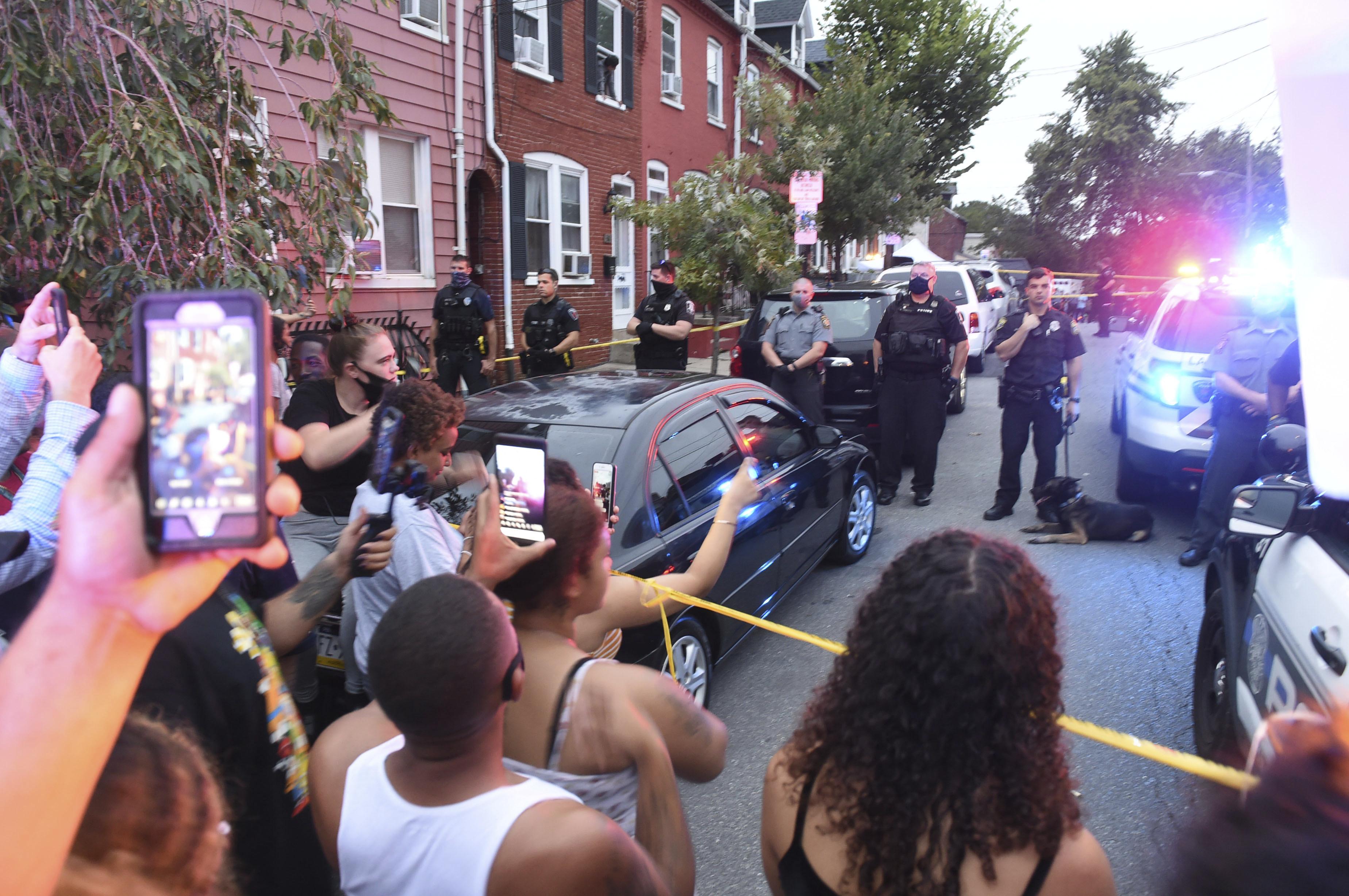 $1M bail set for Lancaster police shooting demonstrators