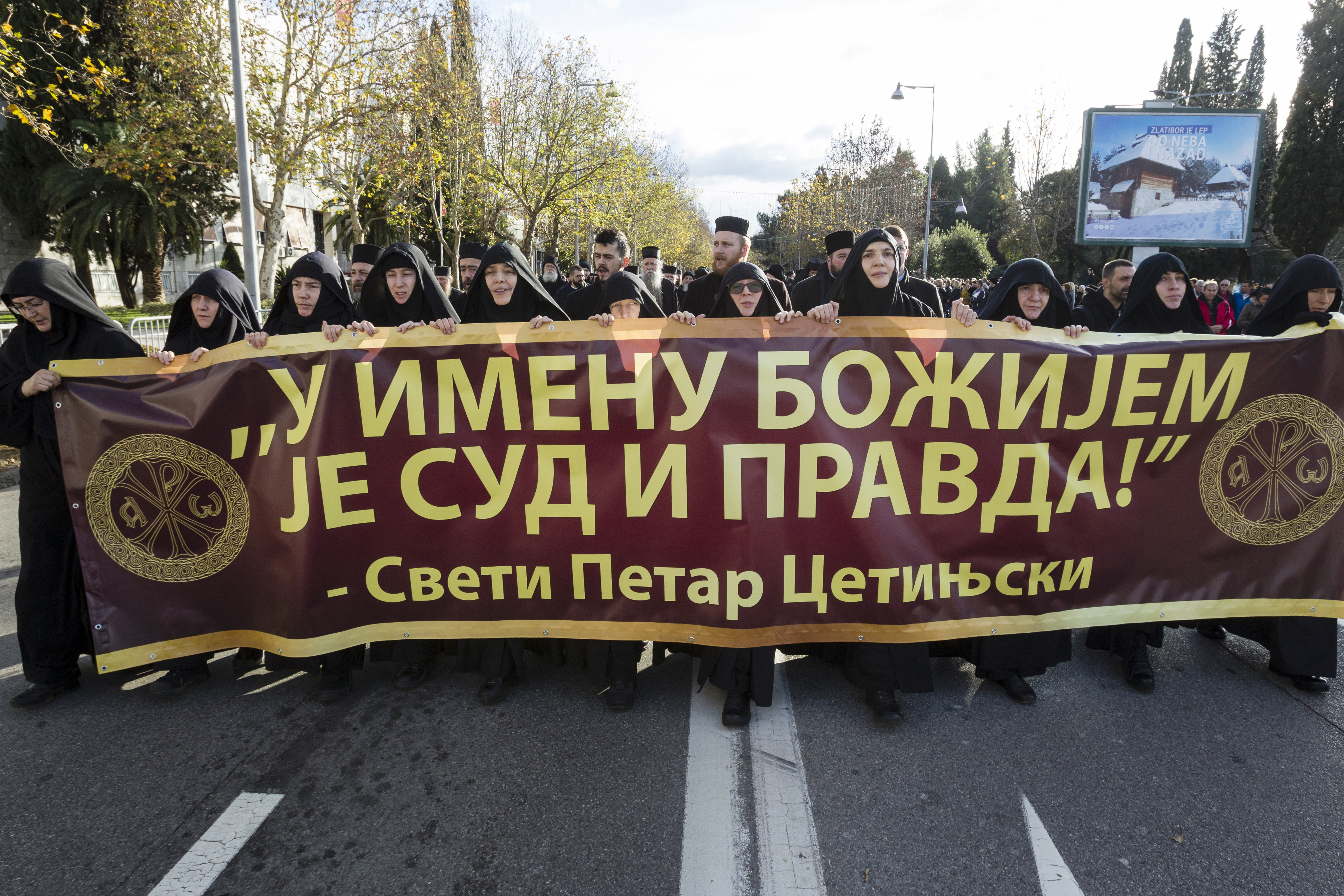 Several thousand protest church bill in Montenegro