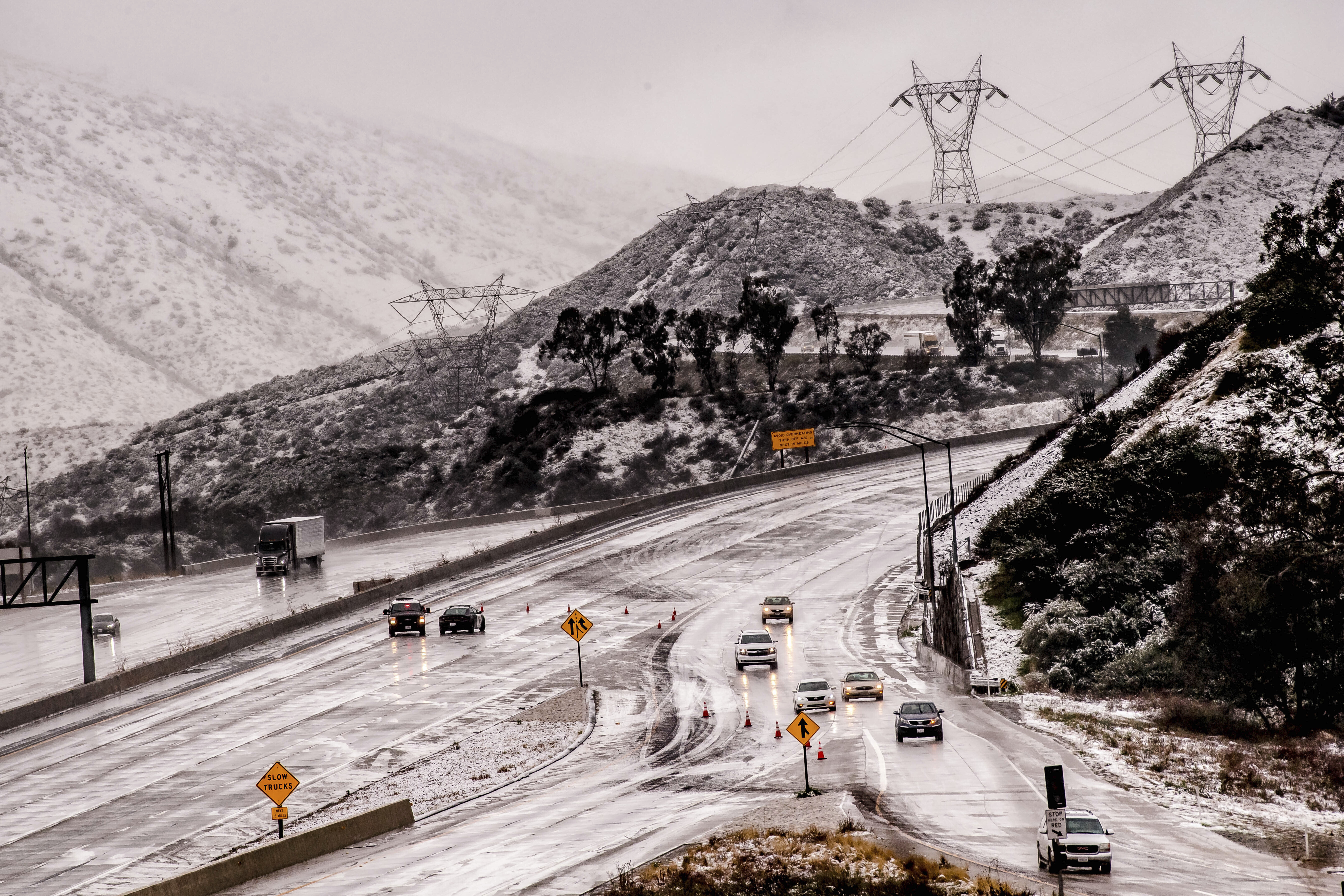 Major Southern California highways reopen after heavy snow