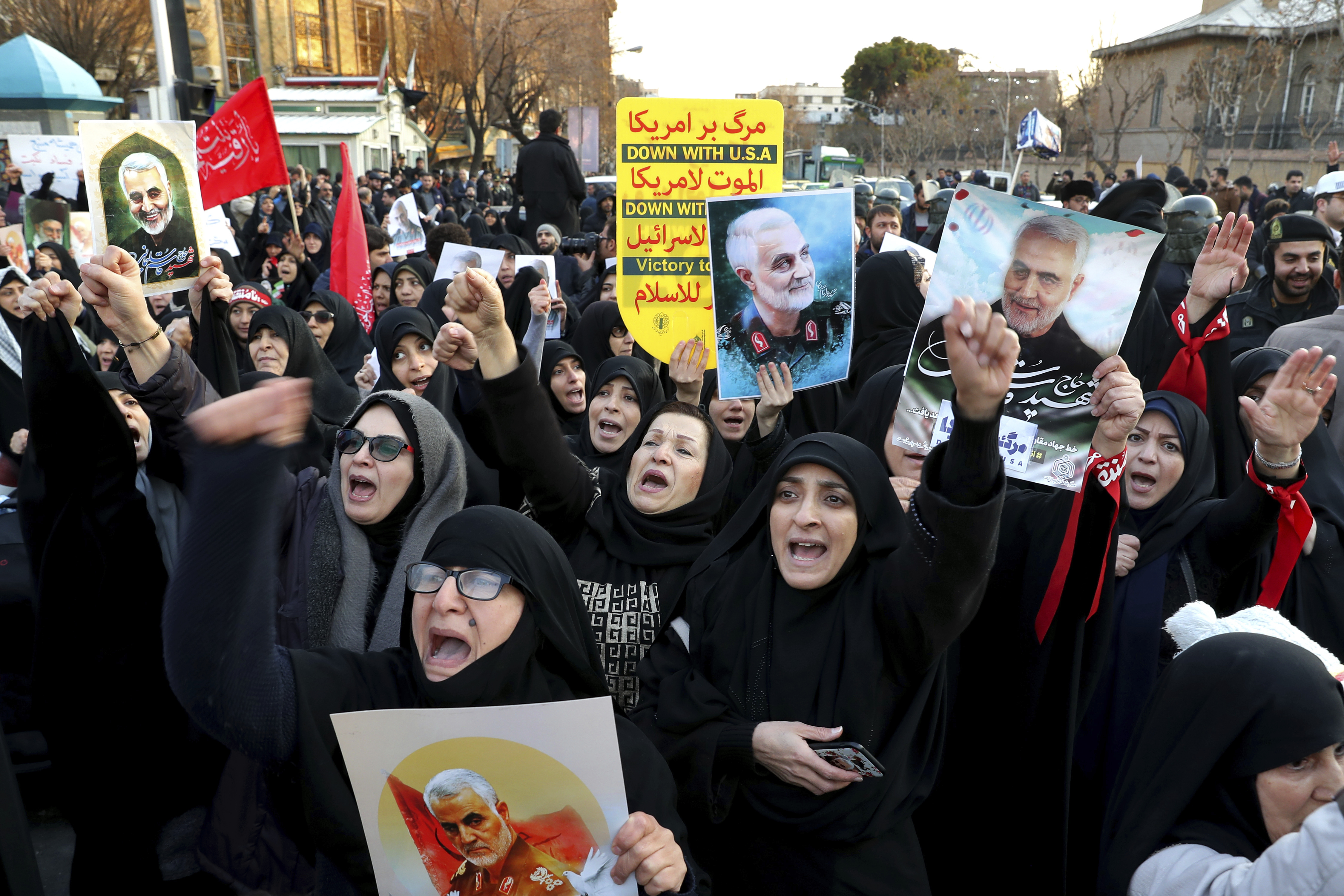 Defying police, Iranians protest over plane shootdown